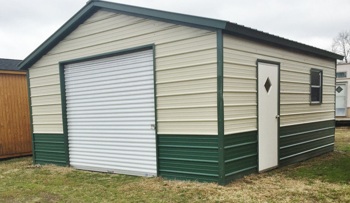 Small Warehouse Steel Building Construction With Rolling Door And Single Door