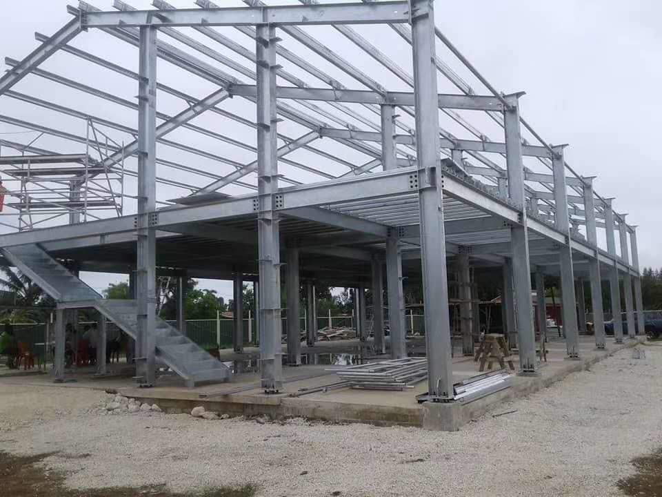 Hot Dip Galvanized steel frame warehouse Q235 material Welding Connection