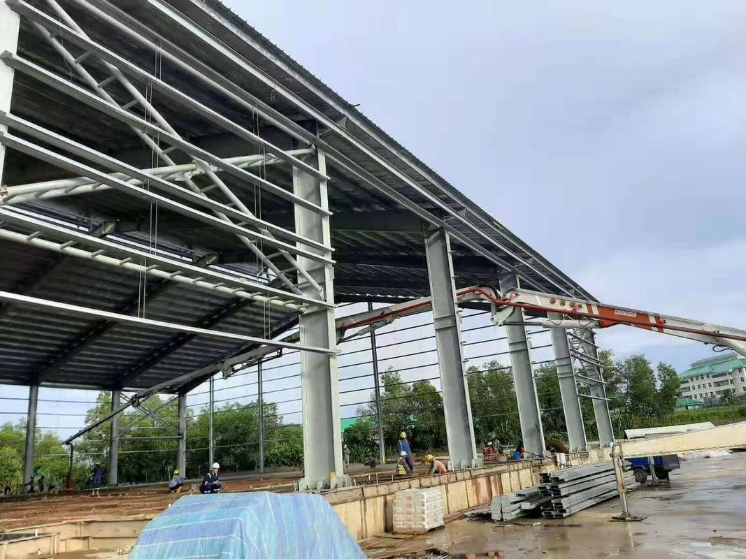 High Builidings Stable Garage Steel Frame Q355B for Car Parking